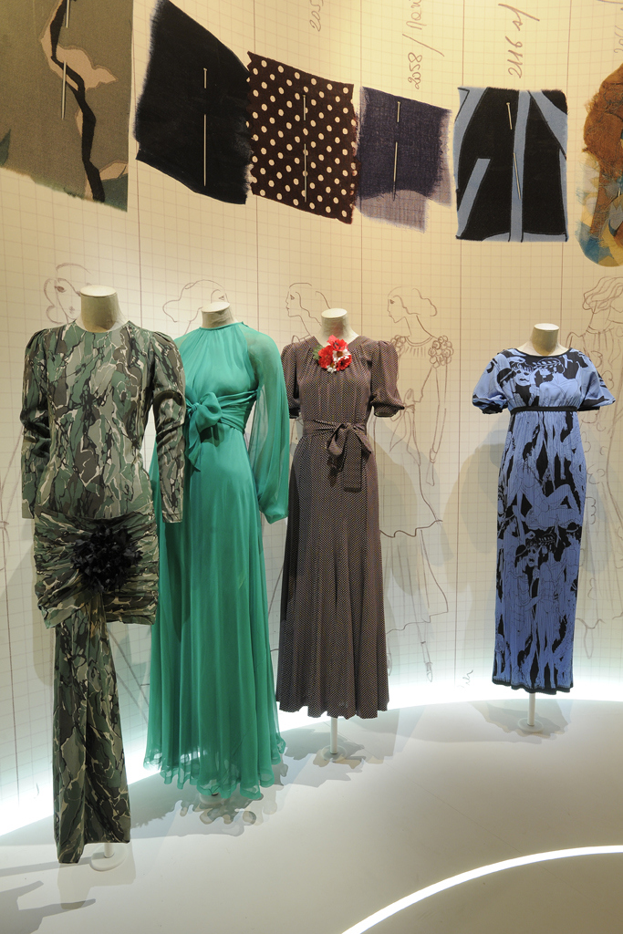 A view of the Yves Saint Laurent 1971 exhibit.